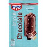 Shop 2x Dr. Oetker Cream Dessert Triple Chocolate (2 Servings) 100g at great prices on discandooo.com