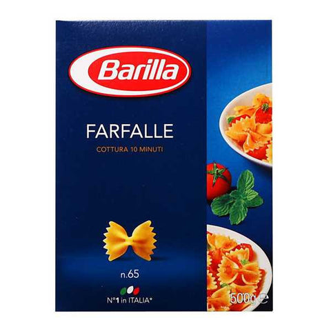 Shop Barilla Pasta Noodles Farfalle n.65 500g at great prices on discandooo.com