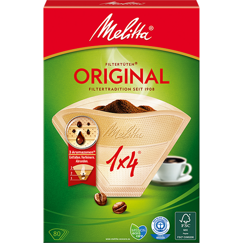 Shop Melitta Filter Bags Original 1 x 4 Brown 80 Piece(s) at great prices on discandooo.com