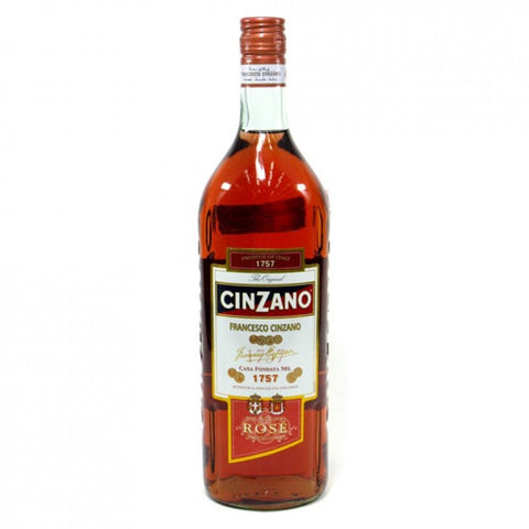 Shop Cinzano Vermouth Rosé 15% 1L at great prices on discandooo.com
