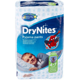 Shop 2x Huggies Diapers Drynites Boy 4-7 Years 10 Piece(s) at great prices on discandooo.com