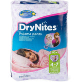 Shop 2x Huggies Diapers Drynites Girl 4-7 Years 10 Piece(s) at great prices on discandooo.com