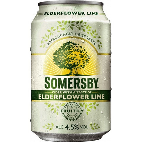 Somersby Elderflower Lime Cider 4.5% 24 x 330ml
