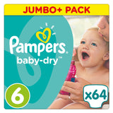 Shop Pampers Baby Dry Diapers Size 6 Jumbo Pack 64 Piece(s) at great prices on discandooo.com