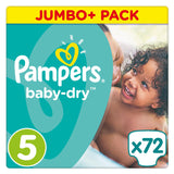 Shop Pampers Baby Dry Diapers Junior Size 5 (11-25Kg) Jumbo Pack 72 Piece(s) at great prices on discandooo.com