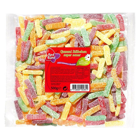 Shop 2x Red Band Wine Gums Sticks Sour 500g at great prices on discandooo.com
