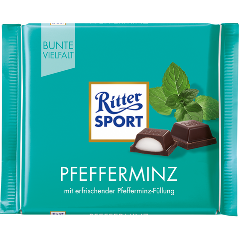 Shop 5x Ritter Sport Chocolate Peppermint 100g at great prices on discandooo.com
