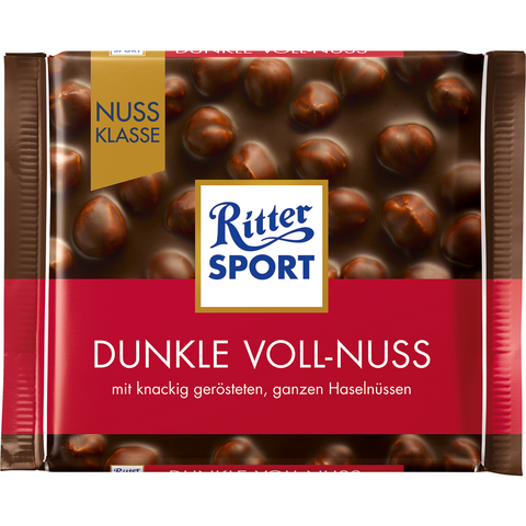 Shop 5x Ritter Sport Chocolate Dark Whole Nut 100g at great prices on discandooo.com