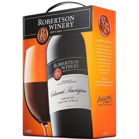 "Robertson Winery Cabernet Sauvignon 14%   ""Bag in Box"" 3L"