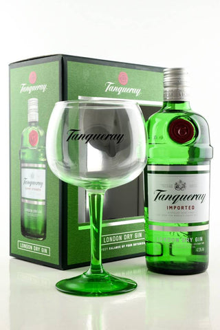 Tanqueray Gin with Copa Glass Gift Box 47.3% 0.7L