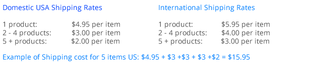 Domestic and International Shipping Rates