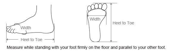 How to measure your foot size