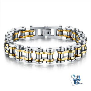 Biker Chain Link Bracelet 316L Stainless Steel Mens Bracelet Jewelry - I'LL TAKE THIS