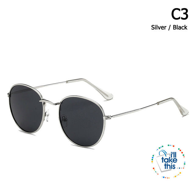 Vintage Classic 3447 Round Metal Style Polarized Sunglasses Unisex Vintage Retro Sunglasses - I'LL TAKE THIS