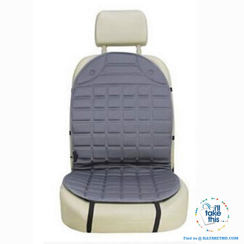 12V Car Seat Warmer, I Seat warmer or a pair in Charcoal or Black - Simple Install - I'LL TAKE THIS
