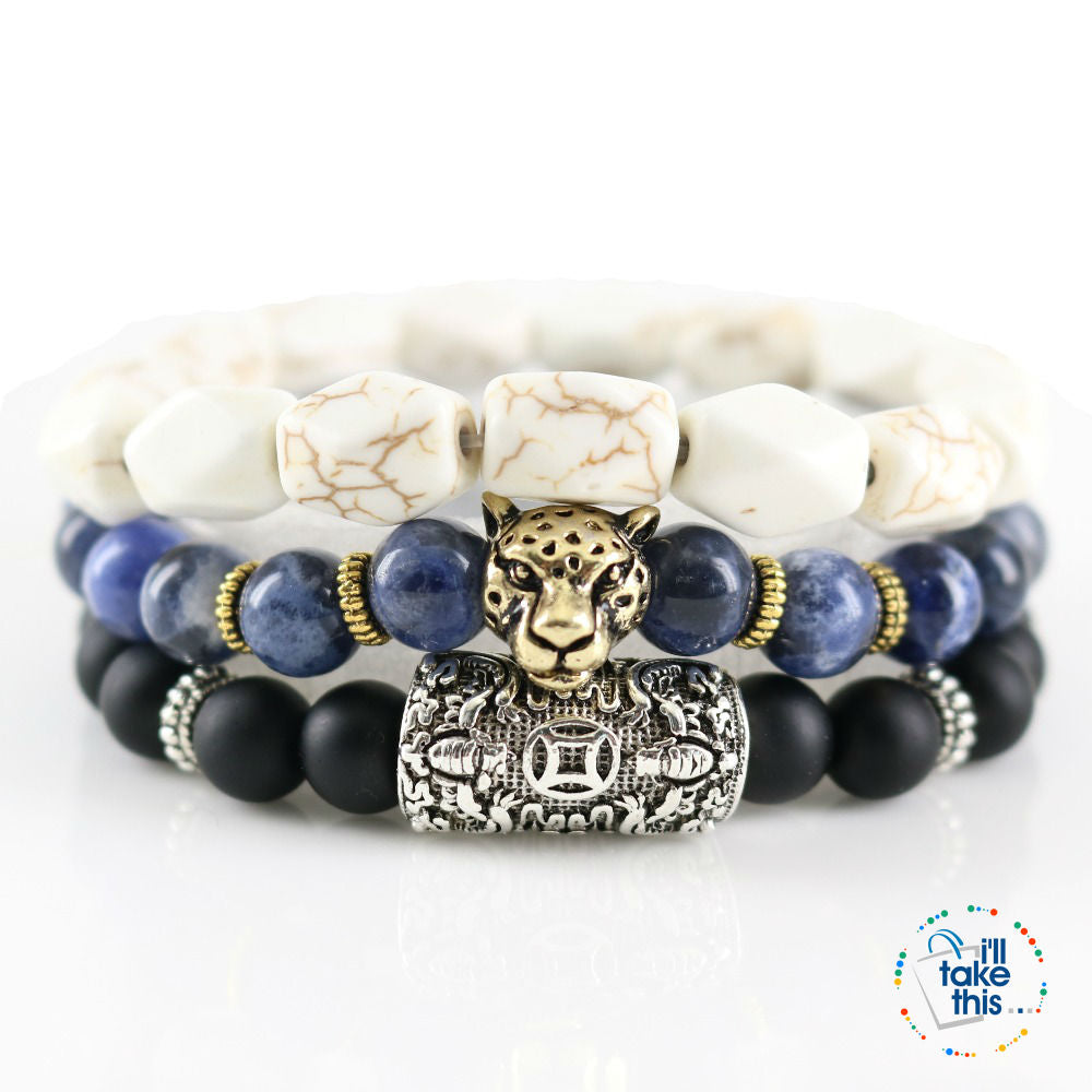 Men's 3 Piece Lord Blessing Bracelets are made for your Wealth, Good Fortune and Prosperity - I'LL TAKE THIS