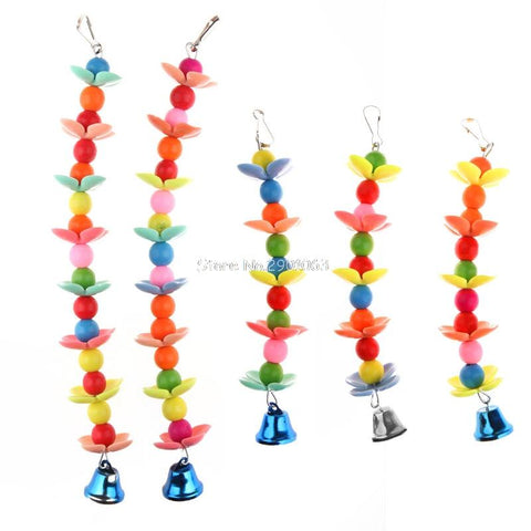 Image of 1PC - Colorful Pet Bird Parrot Parakeet Budgie Cockatoo Cage Bell Hanging Chew Toys - I'LL TAKE THIS