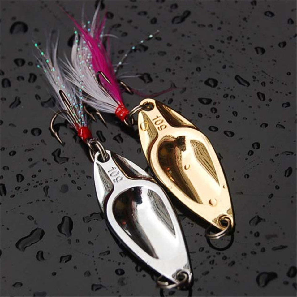 Fishing Lure Metalic Shine Wobbler with Treble hook - 4 weight options. Ideal Fishing Spinner Hardbait - I'LL TAKE THIS
