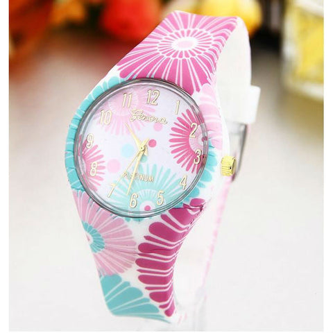 Image of Women's Silicone Printed Designer style Rubber Band Watch - Analog Fashion wristwatch - I'LL TAKE THIS