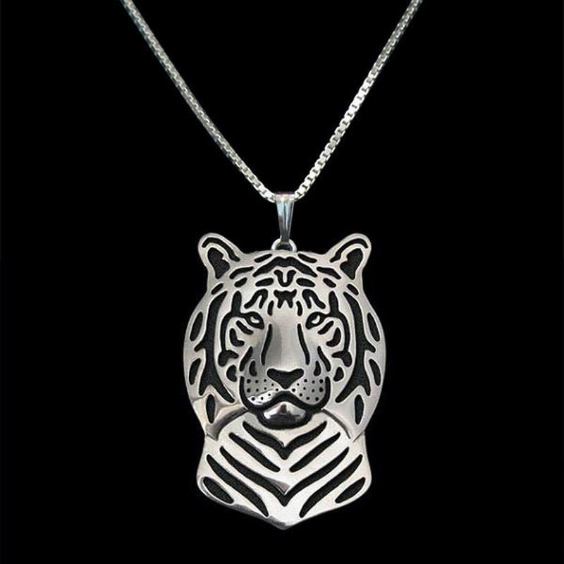 Tiger Shaped Head Pendant with chain, 3 color variations - I'LL TAKE THIS