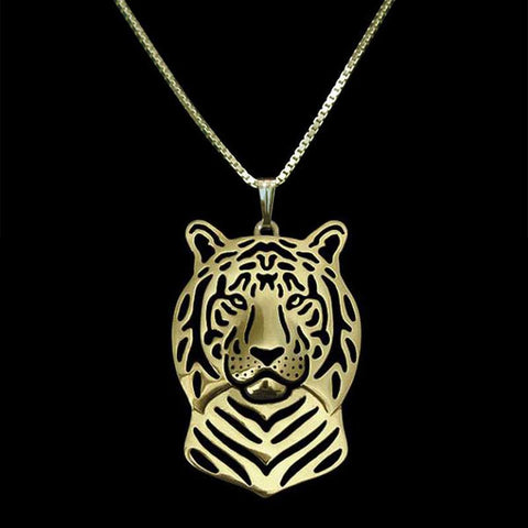Image of Tiger Shaped Head Pendant with chain, 3 color variations - I'LL TAKE THIS
