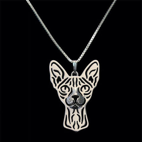Image of Sphynx Cat Pendant in Gold, Silver or Rose Gold with FREE Link chain - I'LL TAKE THIS