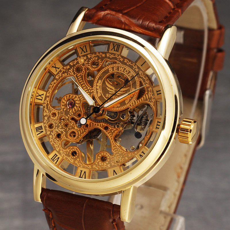 Men's Skeleton Vintage Dress Watches  - Hand Wind - I'LL TAKE THIS