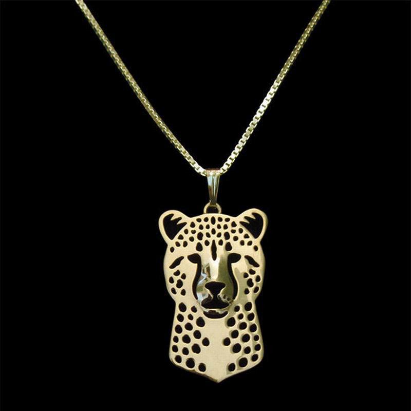 Cheetah Necklace in Gold, Silver or Rose Gold with FREE Link chain - I'LL TAKE THIS