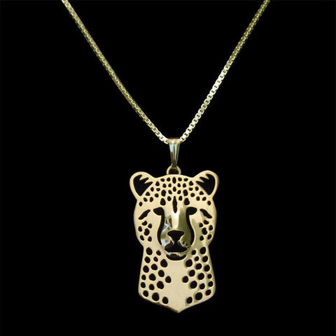 Image of Cheetah Necklace in Gold, Silver or Rose Gold with FREE Link chain - I'LL TAKE THIS
