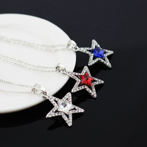 Image of Crystal Star Pendant + Necklace - 6 Colors, Great fashion jewelry ⭐ - I'LL TAKE THIS