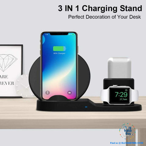 3-in-1 Apple Wireless Charger - Super Fast & Convenient 💥 - I'LL TAKE THIS