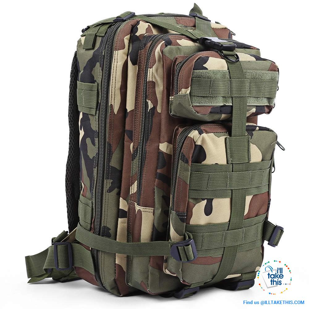Grab your 30 Liter Tactical Camouflage Backpack for Outdoor | Sports | School | College Backpack - I'LL TAKE THIS