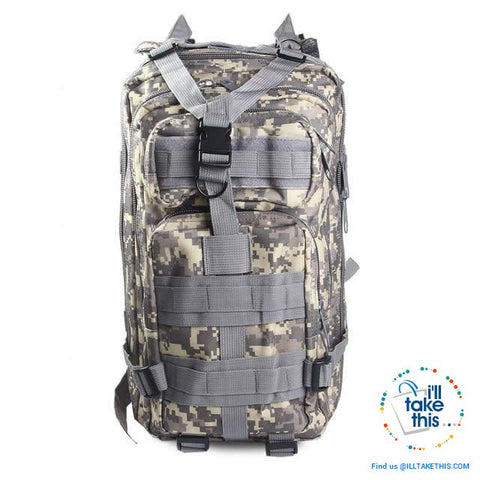 Image of Grab your 30 Liter Tactical Camouflage Backpack for Outdoor | Sports | School | College Backpack - I'LL TAKE THIS