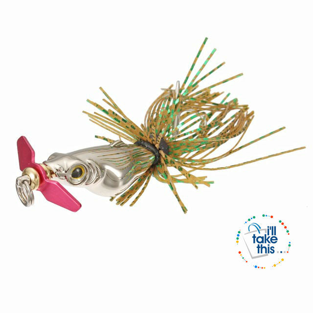 Mini BASS Fishing lures, with Siren Propeller & Lifelike 3D Fisheye for added Attraction 5.5cm 25g - I'LL TAKE THIS
