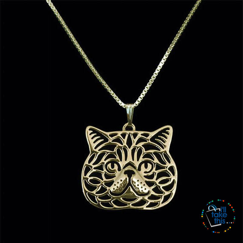 Exotic Short-hair Cat Pendant, 3 color variations + FREE Chain - I'LL TAKE THIS