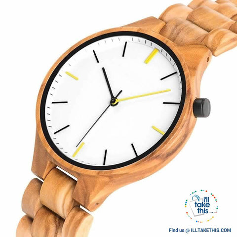 Image of Minimalist Wooden Watches, Quartz Wood Bamboo Wristwatches - Limited Edition - I'LL TAKE THIS