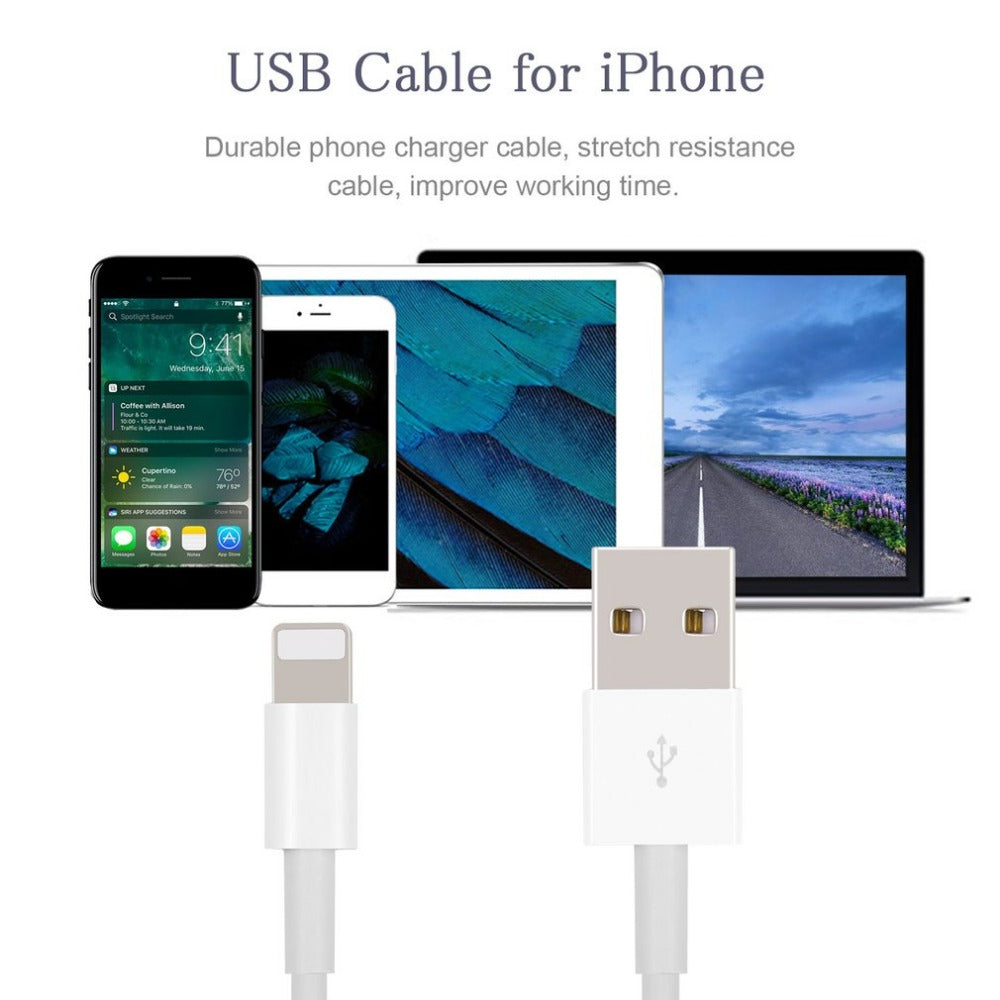 Lightning to USB Cable for iPhone X, 8, 7, 6 or 5s or iPad - Fast Charging Data Cable - 3 or 6 PACK - I'LL TAKE THIS