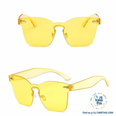 Image of Cateye Designer Sunglasses - 6 Polycarbonate Len, Candy Color frame combinations - I'LL TAKE THIS