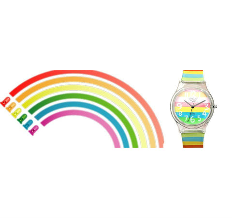 Image of Mini Women Rainbow Colored Silicone Ladies or Child Watch - I'LL TAKE THIS