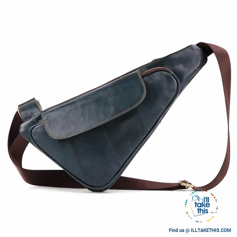 Genuine Leather Sling/Cross-body Man bag with a Sophisticated style - I'LL TAKE THIS