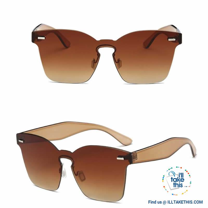 Cateye Designer Sunglasses - 6 Polycarbonate Len, Candy Color frame combinations - I'LL TAKE THIS
