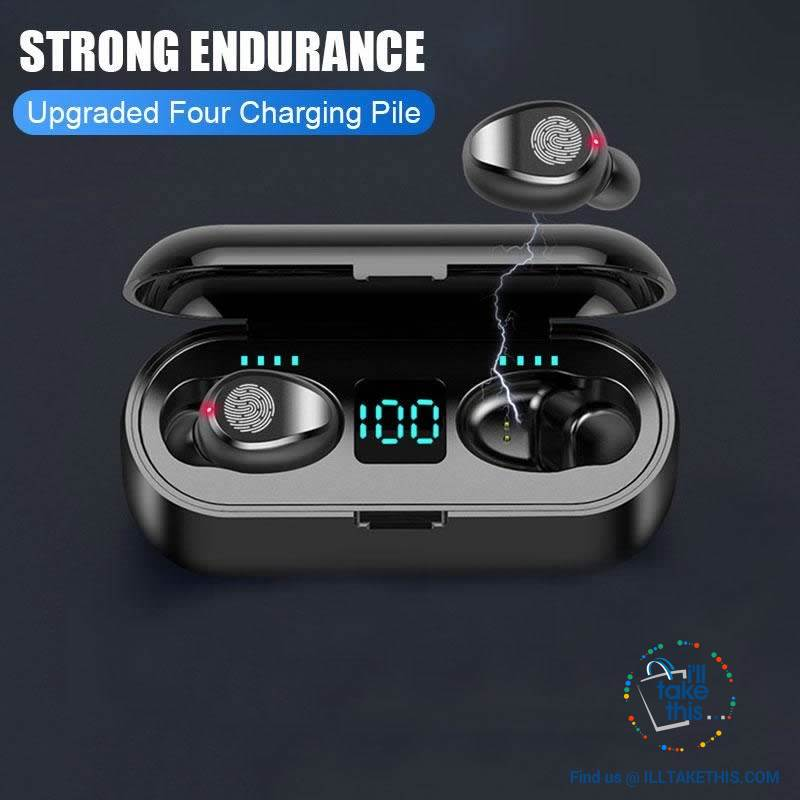 Wireless Earbuds - Bluetooth V5, Superb Wireless Earphones Stereo Headphones - I'LL TAKE THIS