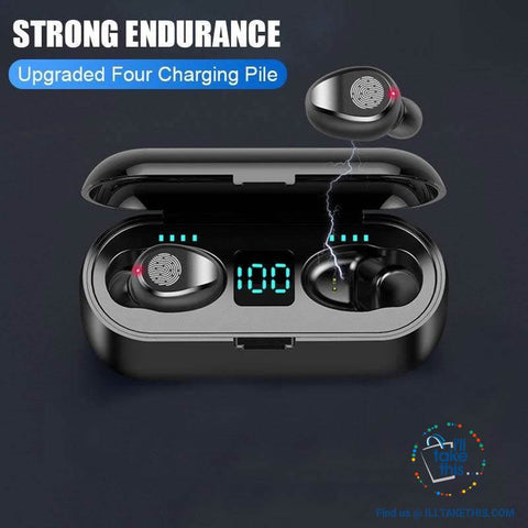 Image of Wireless Earbuds - Bluetooth V5, Superb Wireless Earphones Stereo Headphones - I'LL TAKE THIS