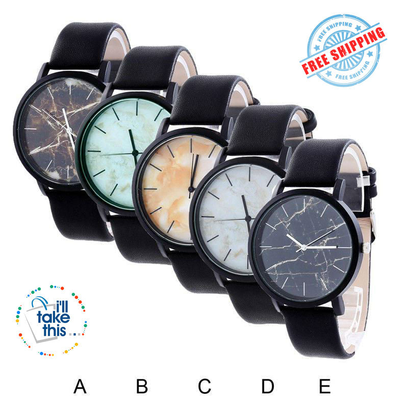 Marble Pattern Quartz Wristwatch - Unisex - I'LL TAKE THIS