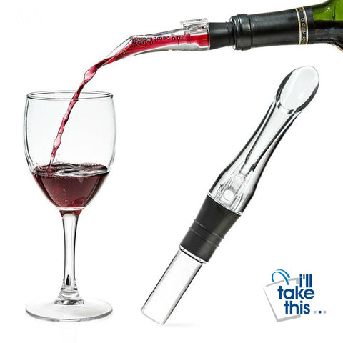 Image of BYO Decanter Wine_Aerator Spout, your Portable Wine_Pourer - I'LL TAKE THIS
