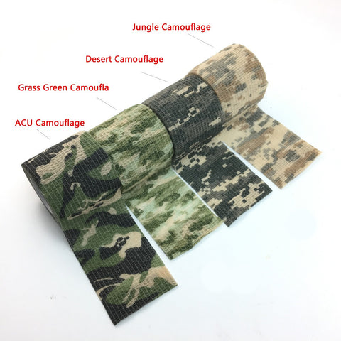 Image of Camouflage Waterproof tape Jungle Army style Camouflage Stealth Tape Suit Outdoor Hunting + Shooting - I'LL TAKE THIS