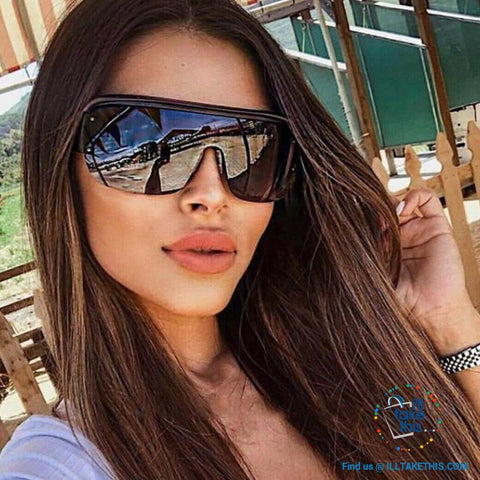 Image of Oversized Vintage Goggle One Piece Gradient SunGlasses UV400 - Unisex 😎 💝 - I'LL TAKE THIS