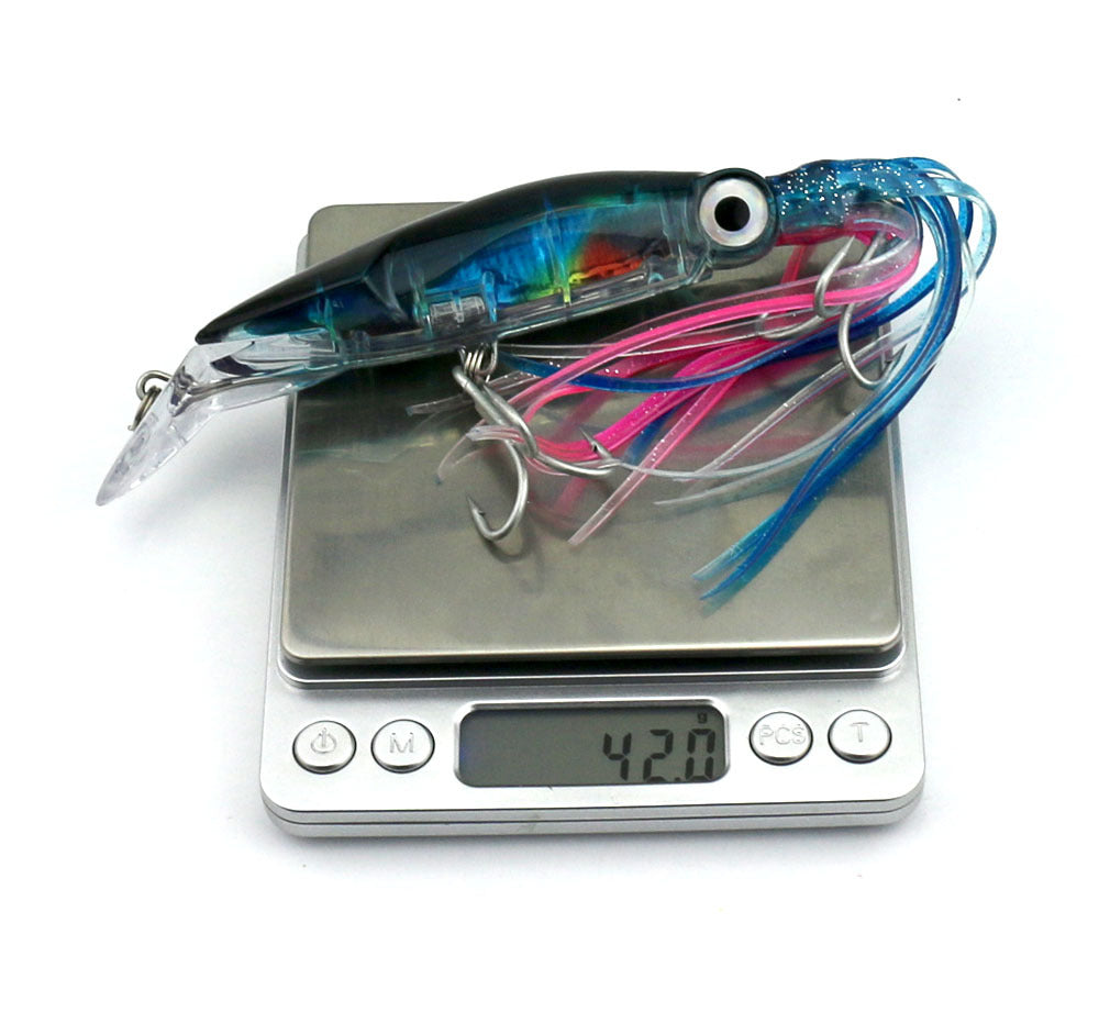 Fishing Lure Squid Like Swimming Bait - 14cm 42g with double treble hooks a unique Fishing Tackle - I'LL TAKE THIS