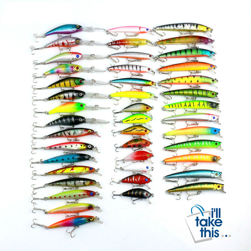 Fishing Lure Set - 43pcs - Mixed Fishing Lure Artificial Baits - I'LL TAKE THIS