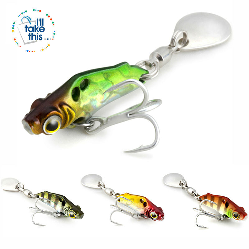 Mini BASS Fishing Lure with its Highly attractive metal reflective colors + Sequins 💙 - I'LL TAKE THIS